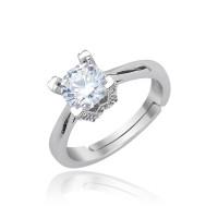 Безразмерное кольцо c посеребрением, Swarovski Crystal Shik